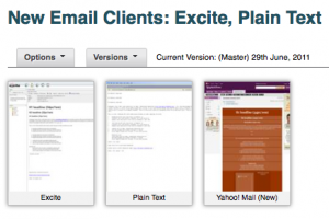 New Excite and Plain Text Email Clients