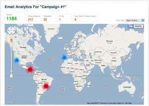 Email Analytics - Real Time Map