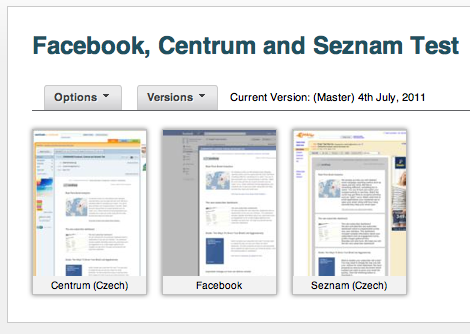Facebook, Seznam and Centrum Email Design Testing
